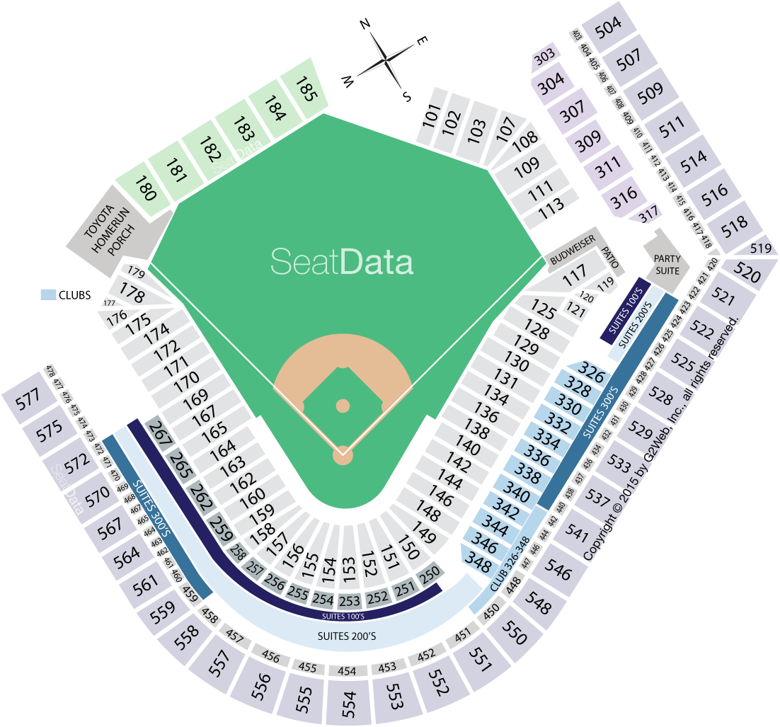 Cleveland Indians Progressive Field Seating Chart