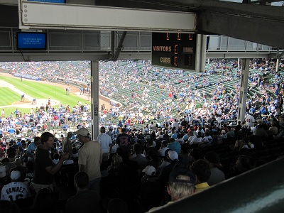 Obstructed View at Cubs games
