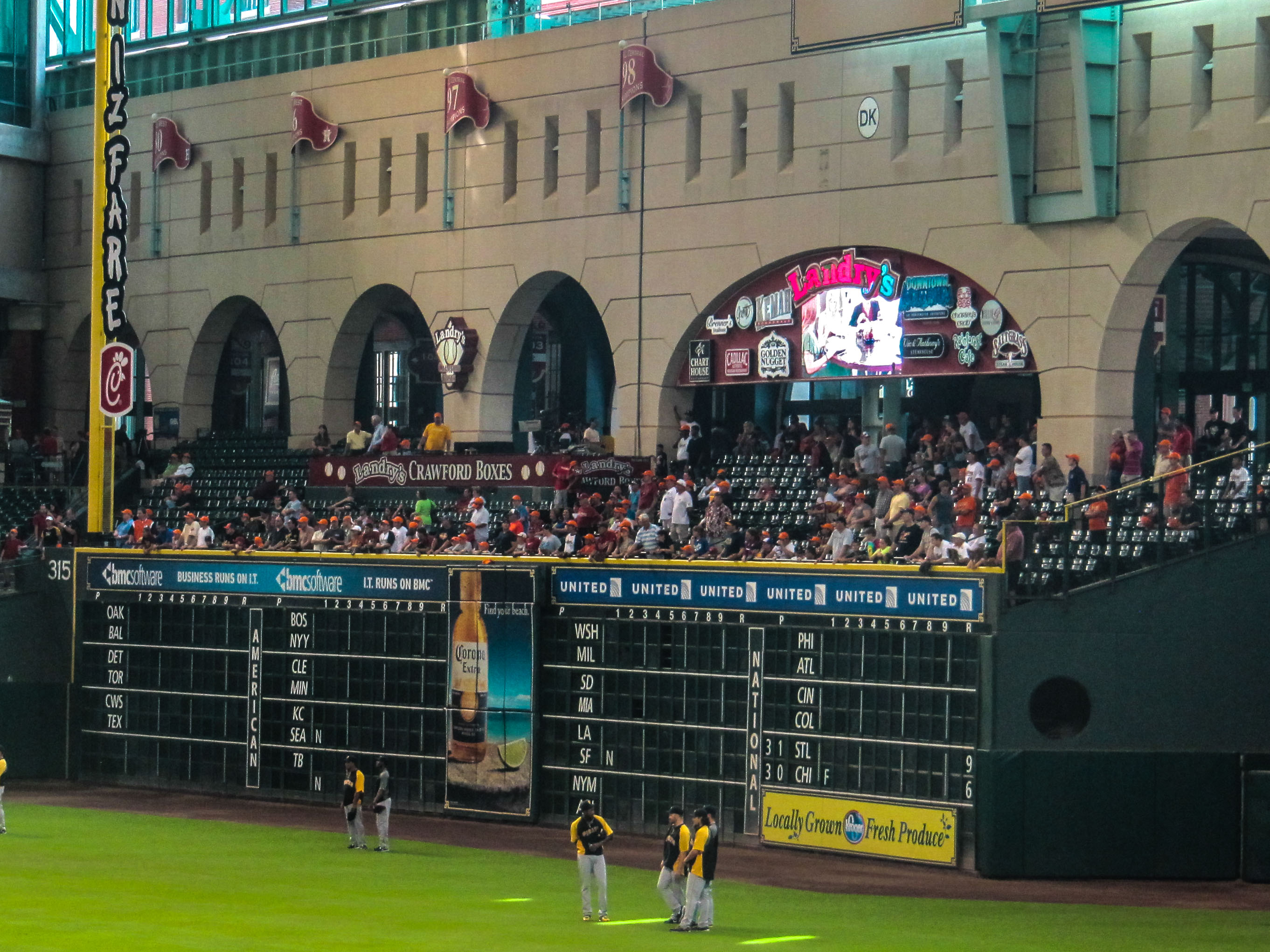 Crawford Boxes During Batting Practice at Minute Maid Park