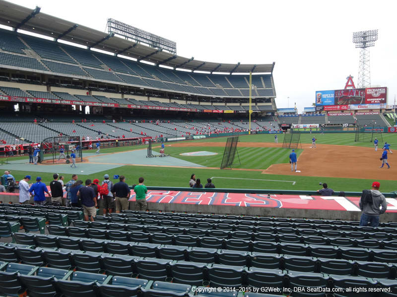 Angels Stadium Section 125 view