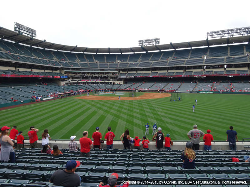 Angels Stadium Section 238 view