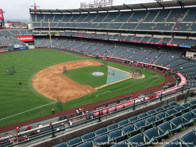 Angels Stadium Section 410 view
