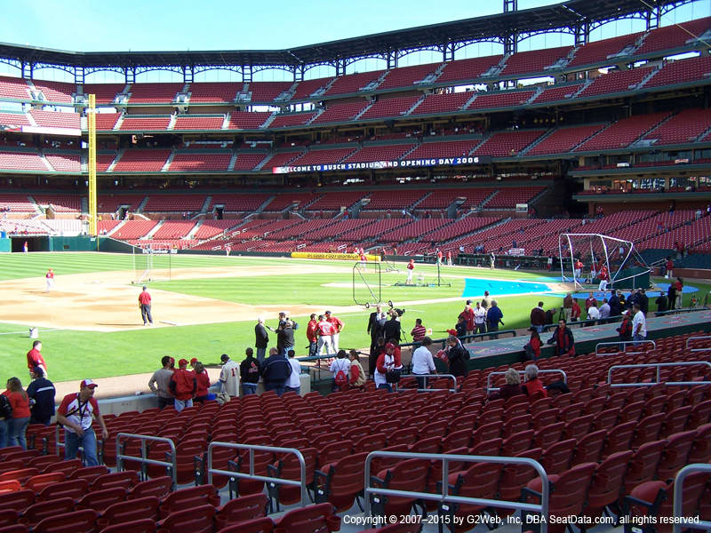 Busch Stadium Section 160 view