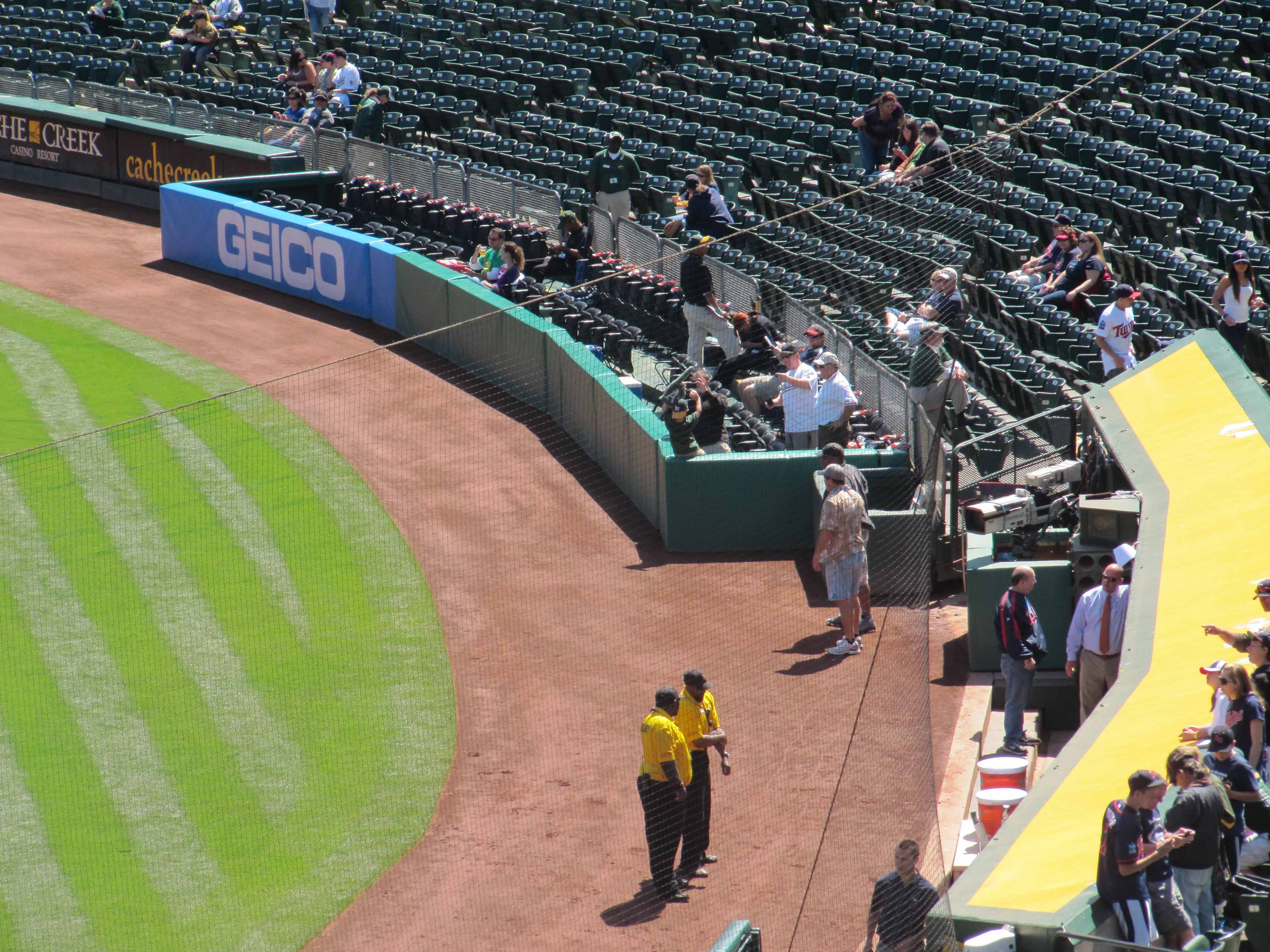 Oakland A's First Base Field Box Seats