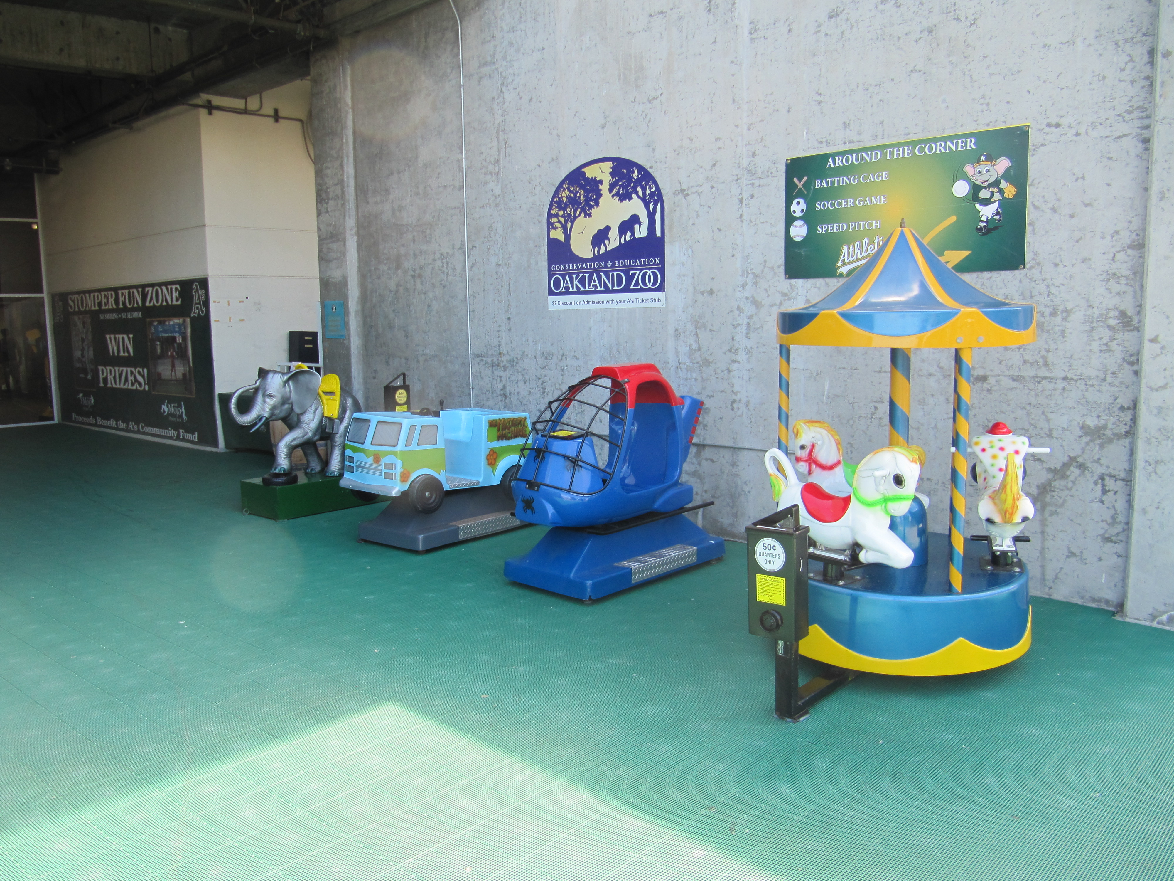 Stomper Fun Zone area at Oakland Coliseum