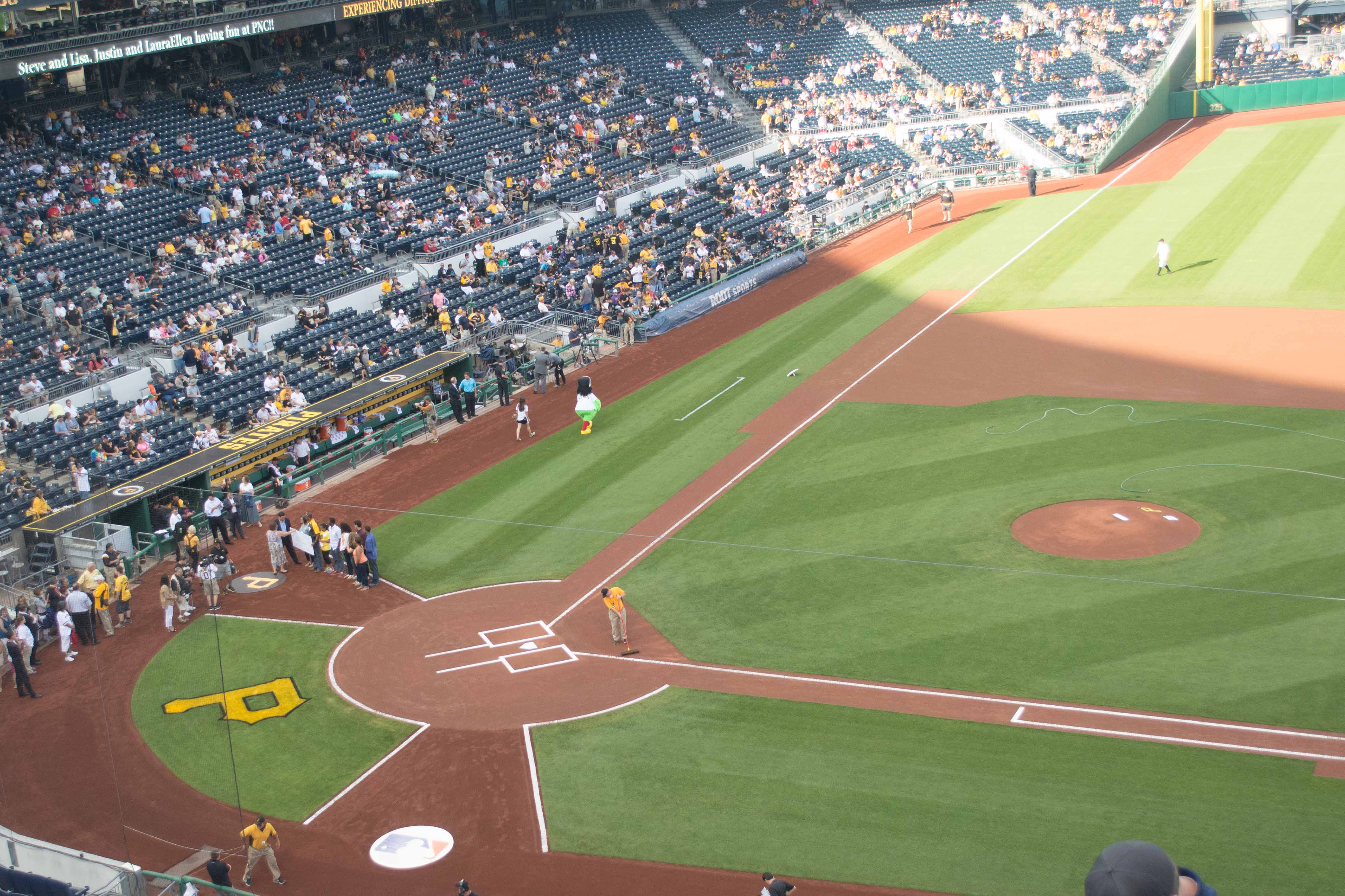 Great View from Pittsburgh Baseball Club seats